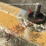 Photo 1 rondelle amiante étanchéité toiture