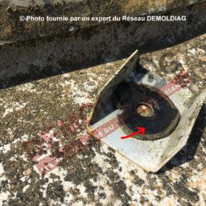 Photo 2 rondelle amiante étanchéité toiture