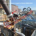 180-14 Jonction de conduit de fumée - tissu contenant de l'amiante